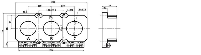 单相电压互感器测控回路电路图